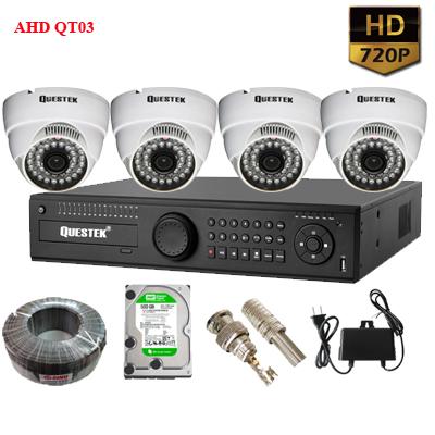 Bộ camera chống trộm 4 mắt